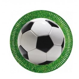 PACK 8 PLATOS 23 CM FOOTBALL PARTY