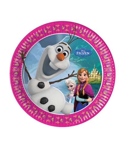 PACK 8 PLATOS FROZEN 20 CM