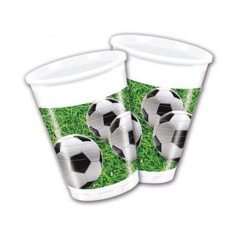 PACK 8 VASOS 200 ML FOOTBALL PARTY