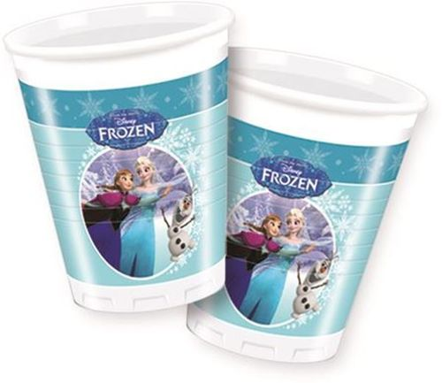 PACK 8 VASOS 200 ML FROZEN SKATING