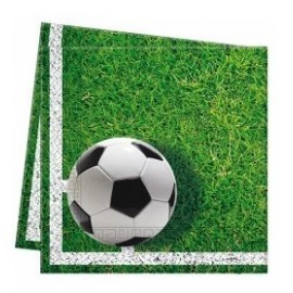 PACK 20 SERVILLETAS 33X33 CM FOOTBALL PARTY