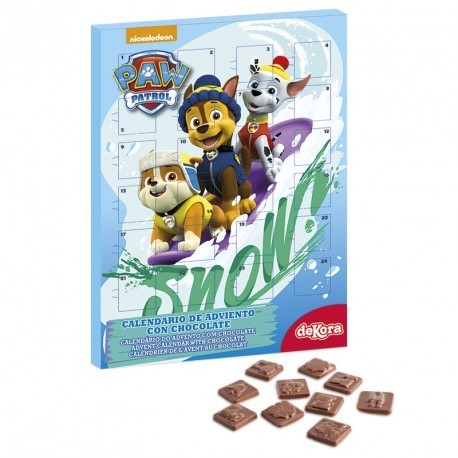 CALENDARIO ADVIENTO PAW PATROL CHICO 50 GR