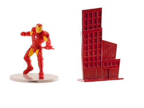 SET PVC IRON MAN VENGADORES CON EDIFICIO