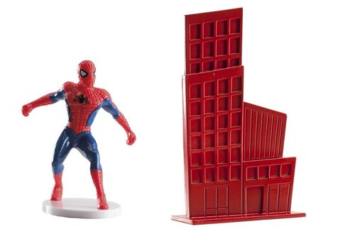 SET PVC SPIDERMAN CON EDIFICIO