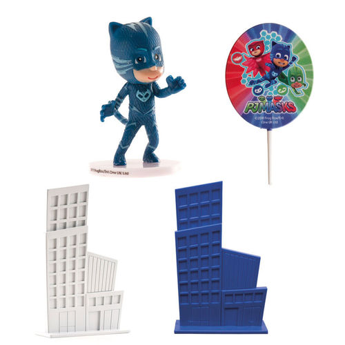 KIT PVC PJ MASKS PARA DECORAR TARTAS